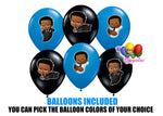 Afro American Boss Baby Balloons with stickers