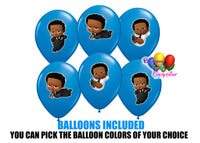 Cute African american boss baby party balloons