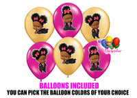 Gold Pink Boss Baby Birthday Balloons