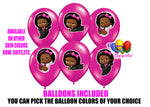 Dark Skinned boss baby party balloons