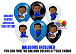 Dark skinned blue boss baby birthday balloons