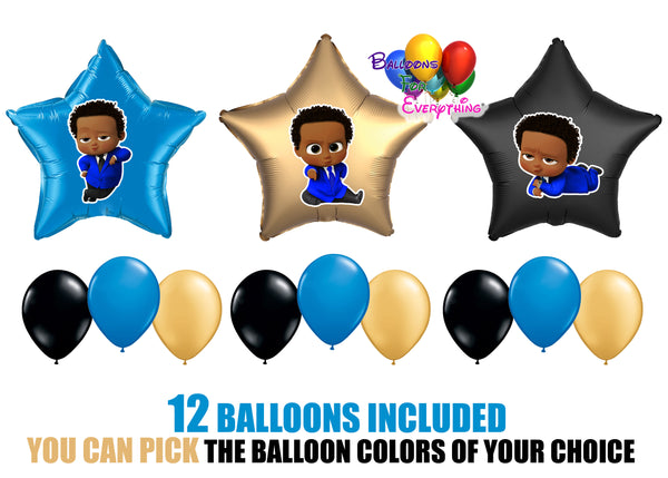 Afro American Boss Baby Party Balloons