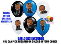 Afro American Boss Baby Latex Balloons