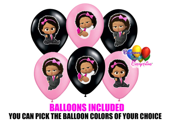 Boss Baby Latina Birthday Balloons
