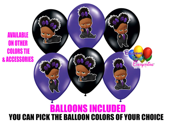 Purple Puffs Boss Baby Balloons