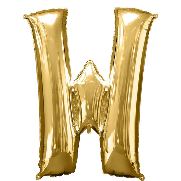 Giant Gold Letter W Balloon