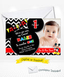 Disney Mickey Mouse Birthday Chevron Invitation