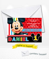 Cute Mickey Mouse Birthday Invitations