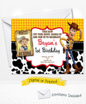 Toy Story Woody Birthday Invitation