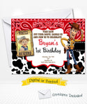 Woody Toy Story Birthday Invitations