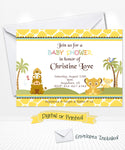 Baby Simba Lion King Baby Shower Invitations