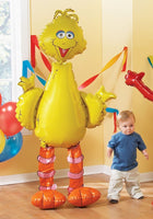 "Big Bird 62"" Airwalker Birthday Balloon Sesame Street"
