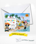 Disney Mickey and Pals Pool Party Invitations
