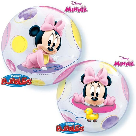 Baby Minnie Mouse Bubble Balloon 22""