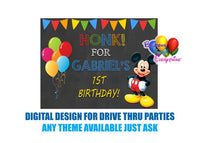 Mickey Mouse Drive Thru Parties Honk Poster Digital Design