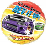 "18"" Hot Wheels Birthday Balloon"