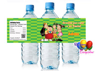 El chavo del 8 birthday water bottle labels