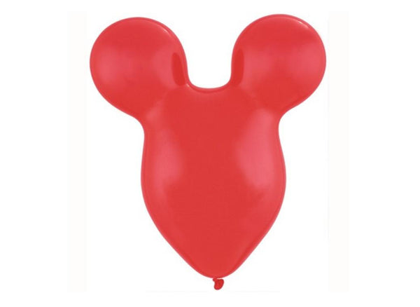 15 inch Disney Mickey Mouse RED Ears Latex Balloons