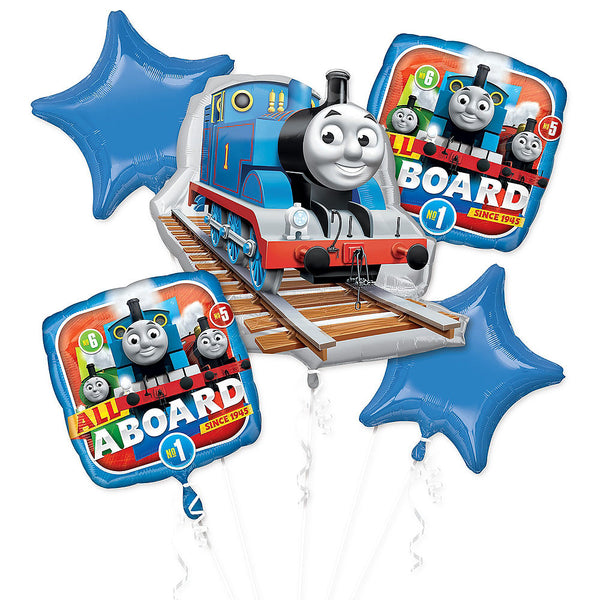 Thomas the Tank Engine and Friends Birthday Balloon Bouquet 5pc