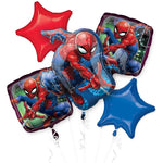 Spider-Man Webbed Wonder Birthday Balloon Bouquet 5pc Spiderman