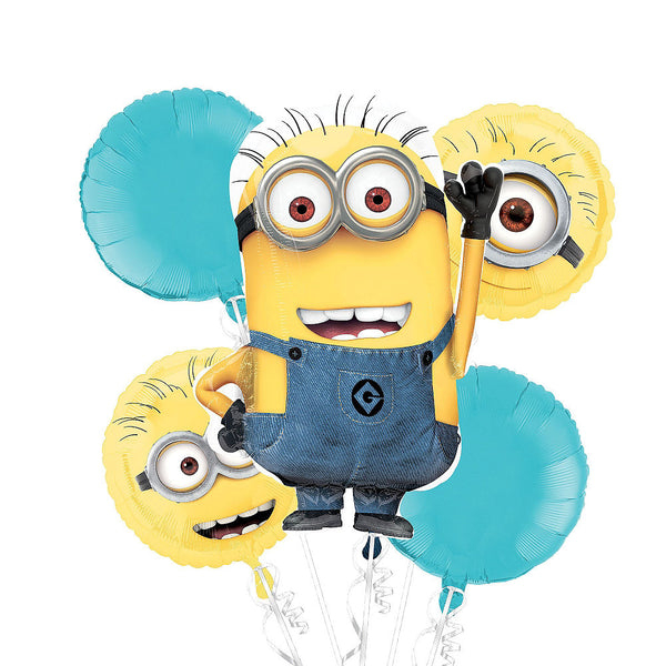 Despicable Me Minions Party Balloon Bouquet 5pc