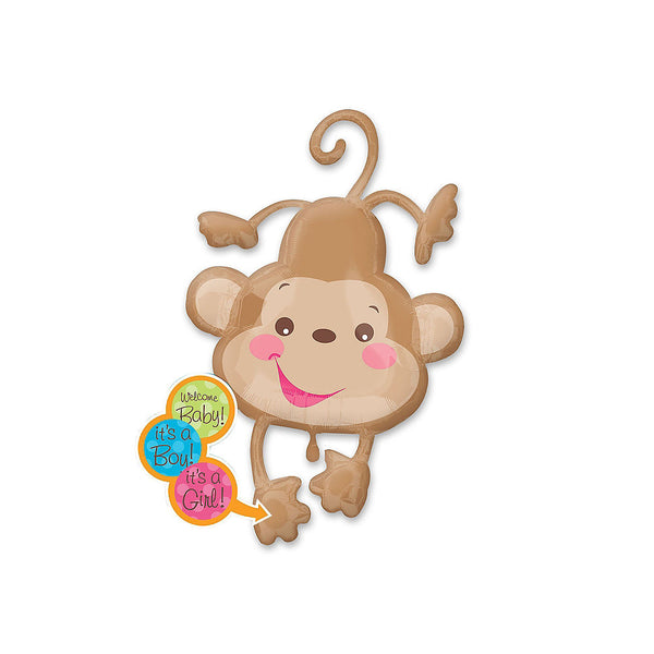 Fisher-Price Monkey Baby Shower Balloon