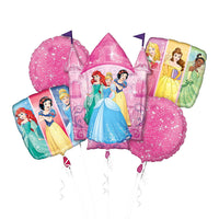 Disney Princess Birthday Balloons Bouquet 5pc