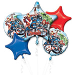 Avengers Birthday Balloon Bouquet 5pc