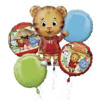 Giant Daniel Tiger Balloon Bouquet 5pc