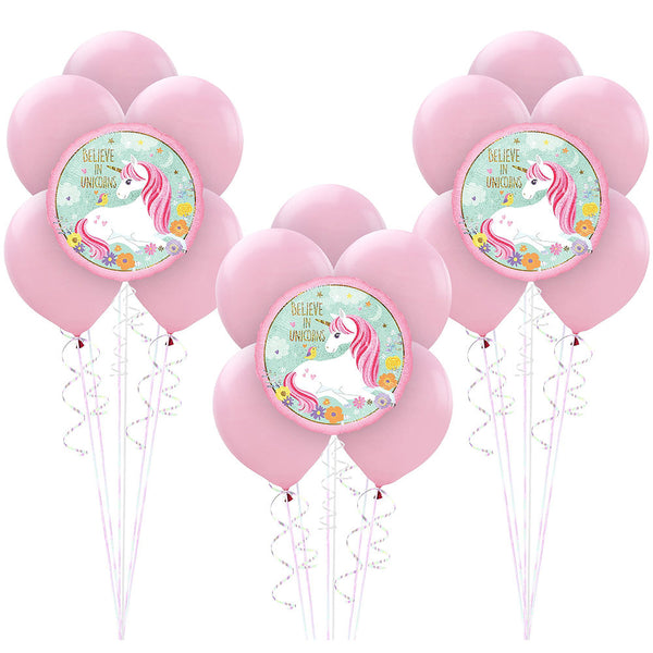 Magical Unicorn Birthday Balloons 18pc