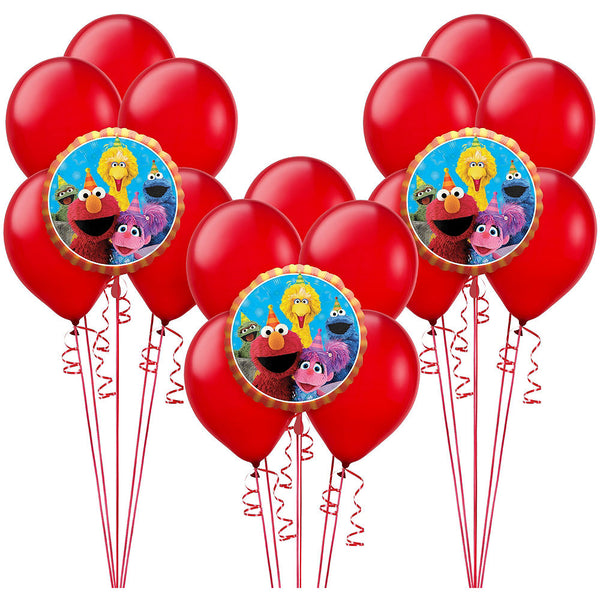 Sesame Street Fun Elmo Birthday Balloons 18pc