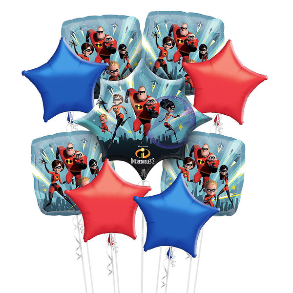 Deluxe The Incredibles 2 Balloons Bouquet 13pc