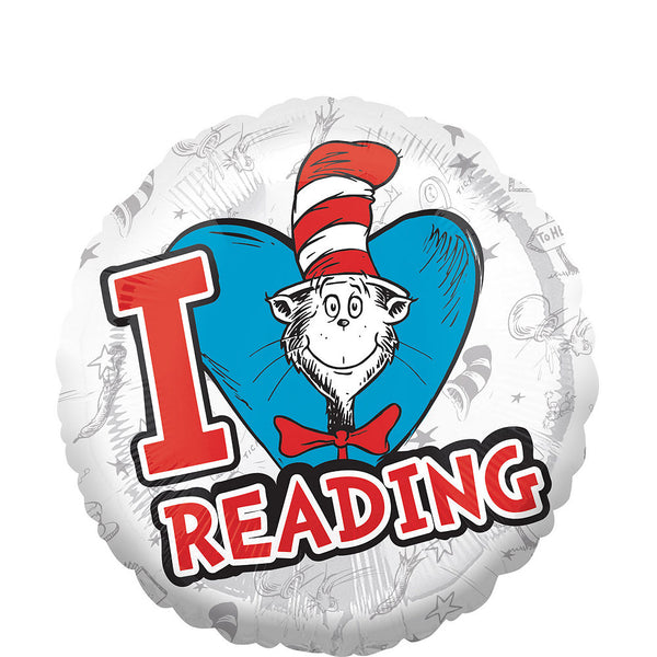 Cat in the Hat I Heart Reading Balloon - Dr. Seuss