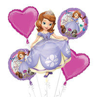 Sofia The First Birthday Balloon Bouquet 5pc