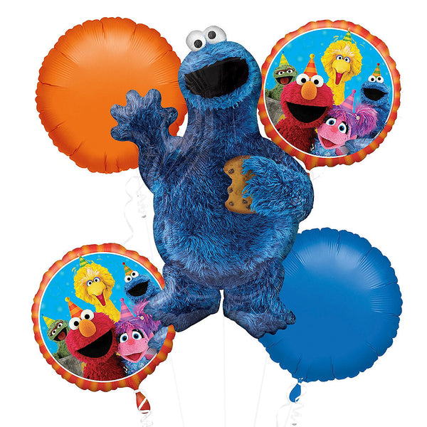Cookie Monster Birthday Balloon Bouquet