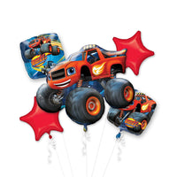 Blaze and the Monster Machines Birthday Balloon Bouquet 5pc