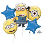 Despicable Me Minions Balloon Bouquet 5pc