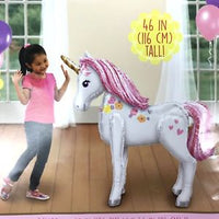Magical Unicorn Airwalker Birthday Balloon 46""