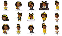 Afro American Boss Baby Girl Party Centerpieces