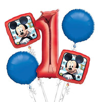 Mickey Mouse 1st Birthday Balloon Bouquet 5pc