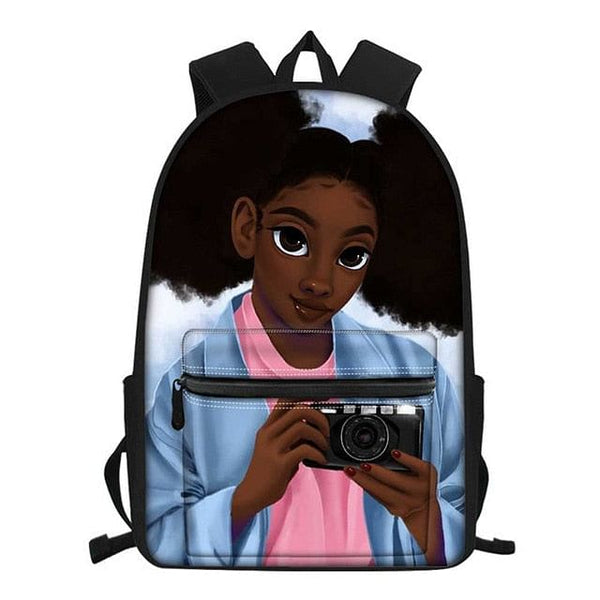 Black Queen Afro Teenage  Girl School Bags, A Jazzi Spot Collection 2020