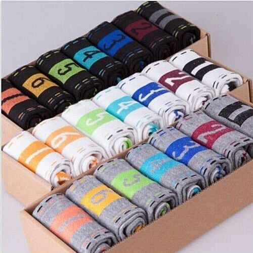 7 Pairs, Men's Casual Cotton 7 Days 1 Week Comfortable Daily Ankle Socks. Gift, New Arrival By We On 1's, The Jazzi Spot!
