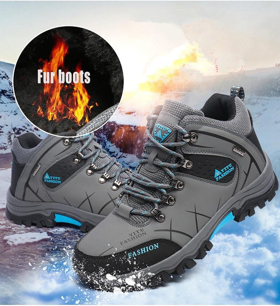 Men Winter Snow Boots Super Men High Quality Waterproof Leather Sneakers