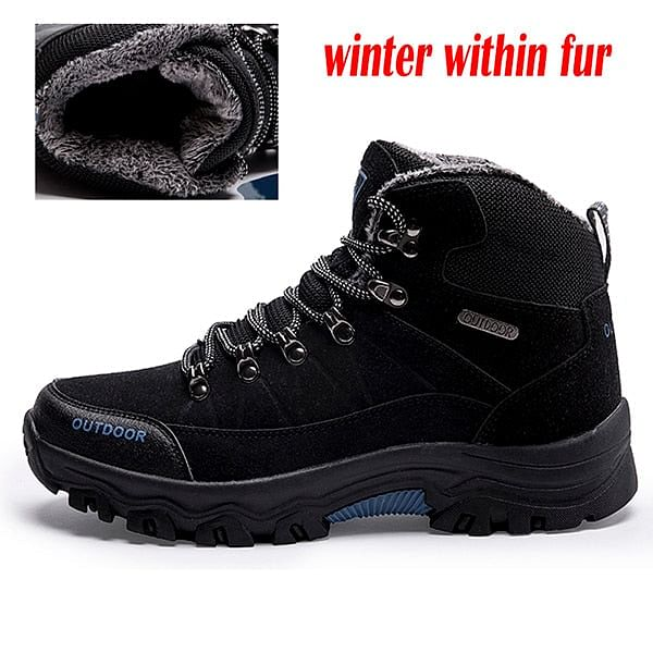 Men Winter Boots Suede Leather