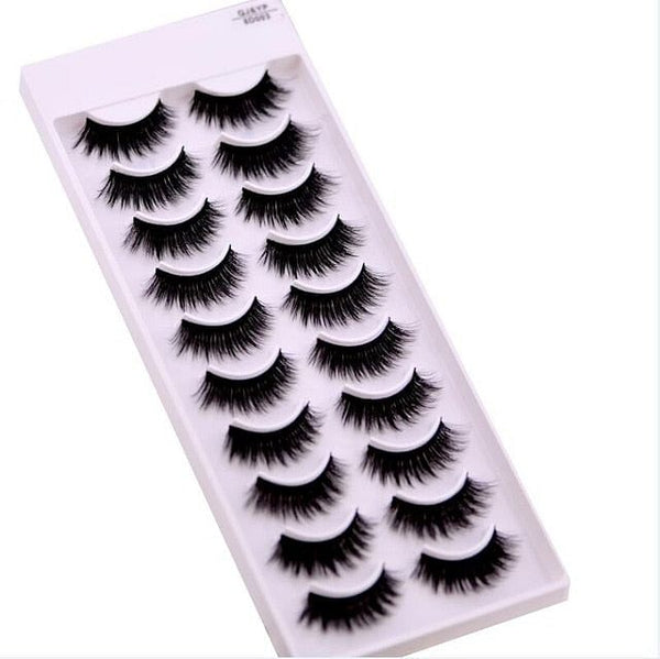 New 5 /8 pairs natural false eyelashes,  long , 3d mink lashes, eyelash extension, mink eyelashes for beauty 03, By The Jazzi Spot