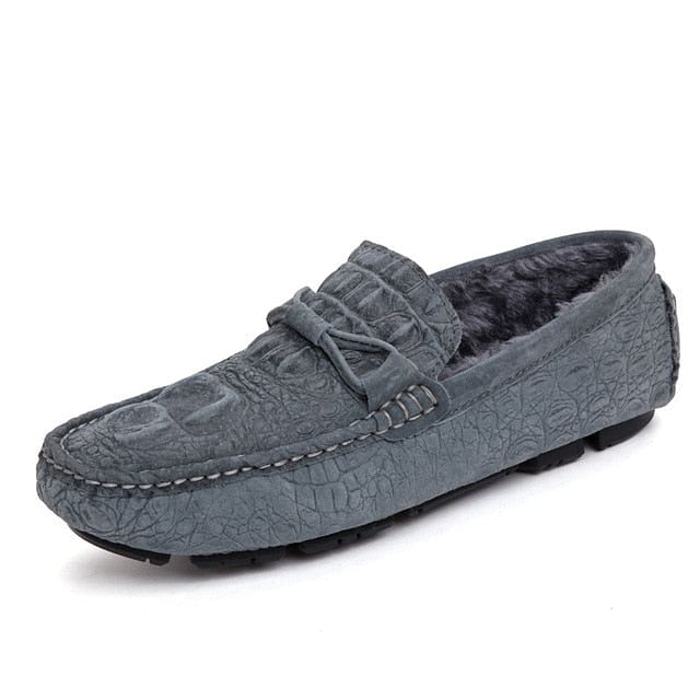 Mocasines, Spring Plush Men Shoes, Fur Flats, Slip On's,  Male Loafers, Driving Moccasins,  Mens Casual Shoes Fashion, Grey.  @ We On 1's, The Jazzi Spot!