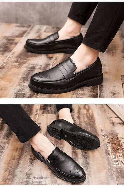 Retro Men Dress Shoes, Stylish Party Leather Formal Shoes, Wedding Shoes, Men Flats, Leather Oxfords Slip on, Fashion Loafers , Here @ The Jazzi Spot!