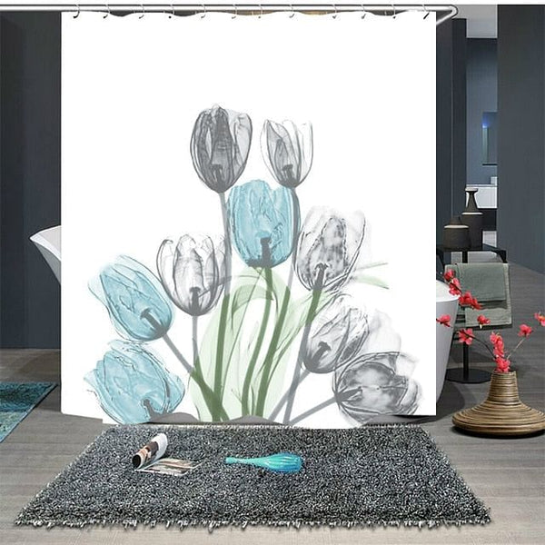 Beautiful Flowers Waterproof Polyester Shower Curtains Bathroom Curtains For Girl Woman Christmas Decoration Bathroom, By The Jazzi Spot!