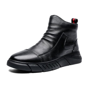 Mens Casual Shoes, High Top Sneakers, Zip Fashion Shoes, Male Street Leisure Black Shoe Footwear, Here @ We On 1's, The Jazzi Spot!
