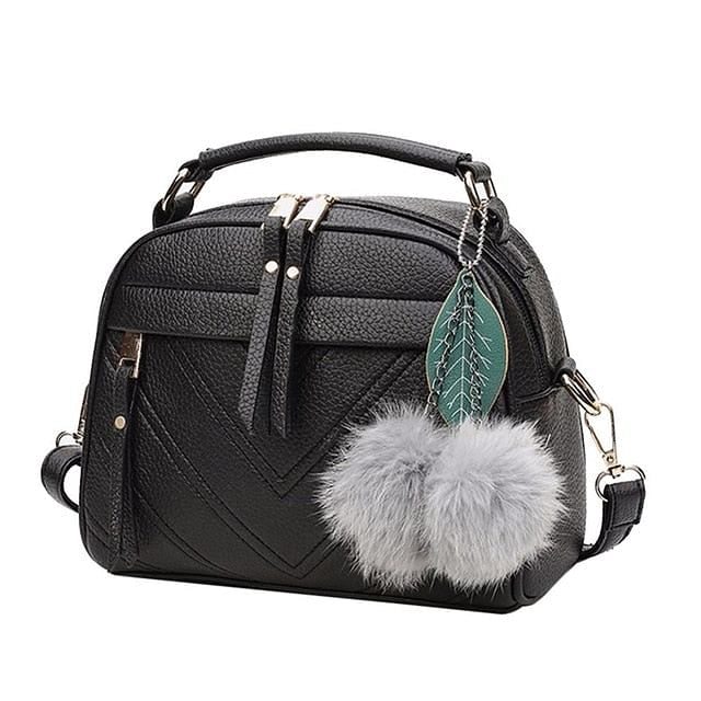 PU Leather Handbag For Women, Girl Fashion, Tassel Messenger Bags With Ball Bolsa, Female Shoulder Bags, Ladies Party Crossbody Bag, By The Jazzi Spot!